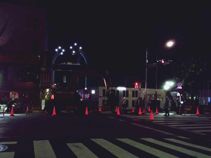 Harajuku Night Construction Light Neon Streetphotography Walking Around Lines Nightphotography Night Lights
