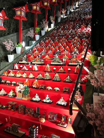 Large Group Of Objects Abundance In A Row Red No People Arrangement Retail