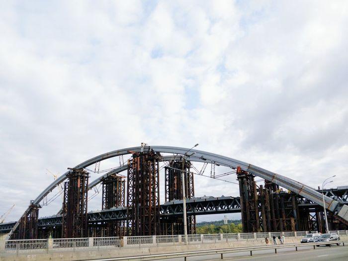 Brutalism Bridge City Kiev Ukraine Construction Copy Space