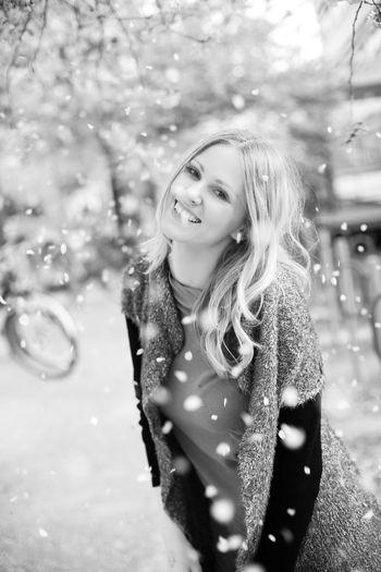 Blackandwhite Blond Girl Goettingen Happiness Love Model Student
