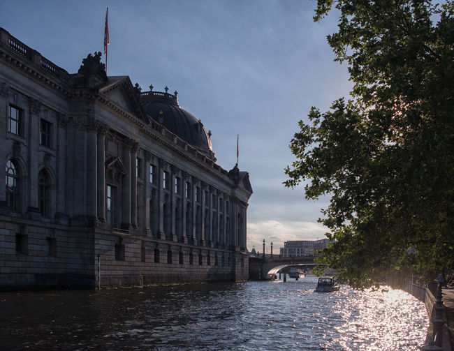 Architecture Berlin Bodemuseum Bodemuseum, Bodemuseumberlin Building Building Exterior Built Structure City Cloud Cloud - Sky Museumsinsel No People River Sky Spree Tree Water Waterfront