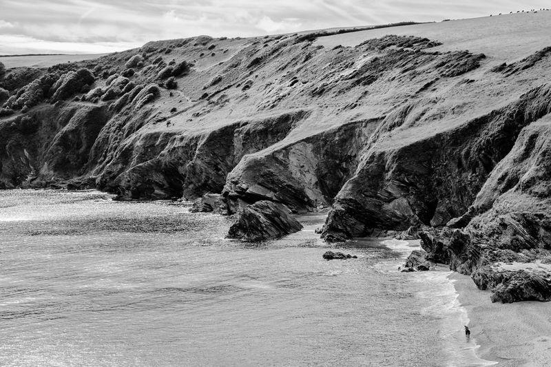 Beach Cliffs Cornwall Fowey Landscape No People Scenics Sea Tranquil Scene Water