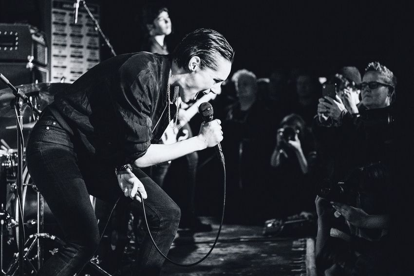 Savages play an intimate 8:00am show at London's legendary 100 Club promoting new album Adore Life Check This Out Taking Photos Music For The Love Of Music Music Photography  Blackandwhite London EyeEm Best Shots