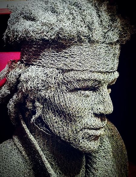 Sculpture Chicken Wire Fence Mesh Wire Fence Jimihendrix Close-up One Person Shadow Eyemphotography Wire Mesh Sculpture The Week On EyeEm