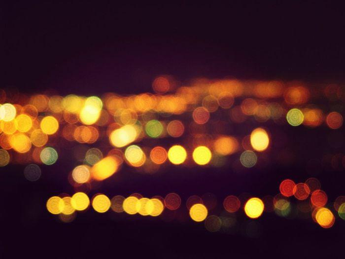 Bokeh City Lights Wallpaper Enjoying Life