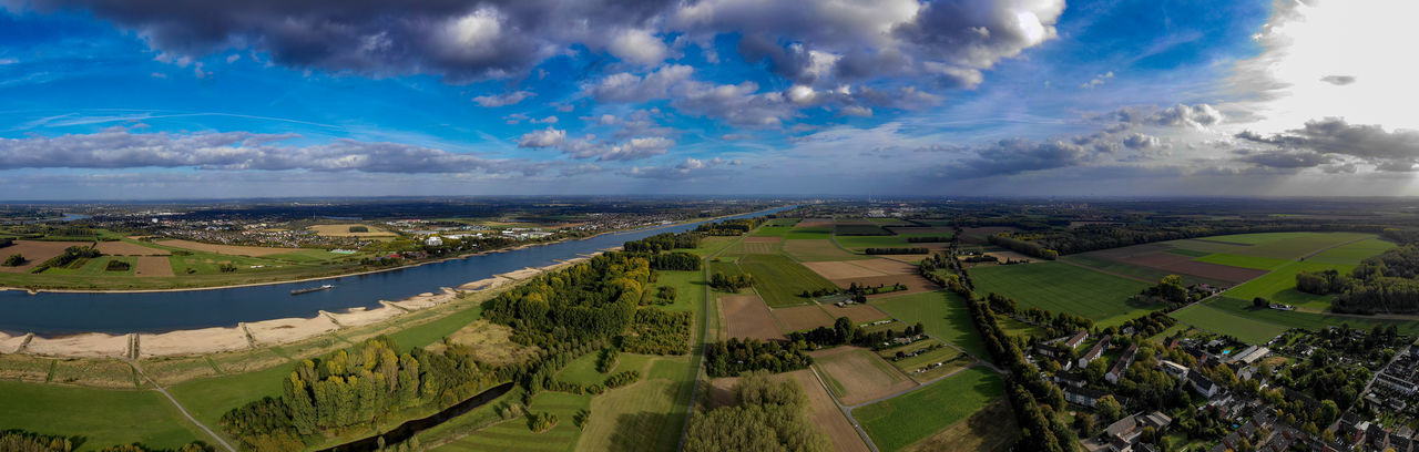 rural area with Rhine River Landscape Cloud - Sky Scenics - Nature Panoramic Aerial View Plant No People Sky Drone Photography