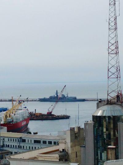Valparaiso, Chile Sea Commercial Dock Navy