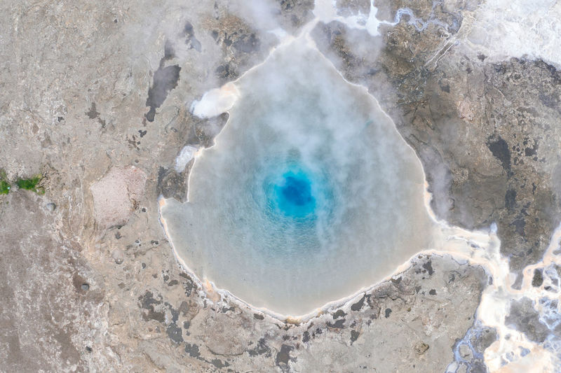 High angle view of hot spring