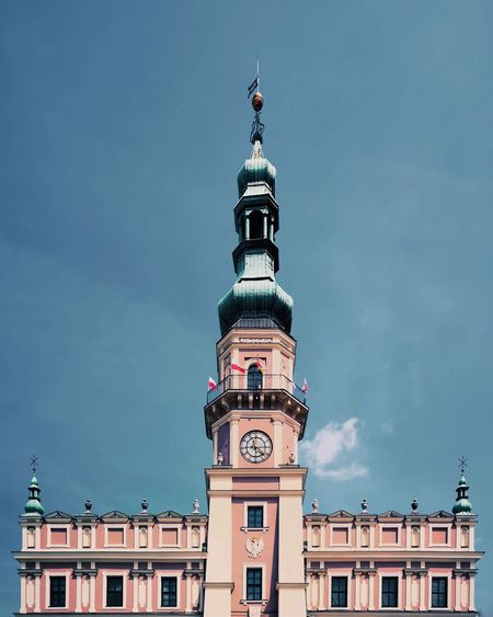 Zamosc poland - low angle view of building against sky