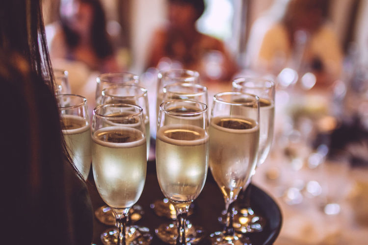 Alcohol Champagne Close-up Drink Drinking Glass Focus On Foreground Food And Drink Glass Indoors  Refreshment Restaurant Still Life Table Toast Transparent Waiter Wedding Wineglass