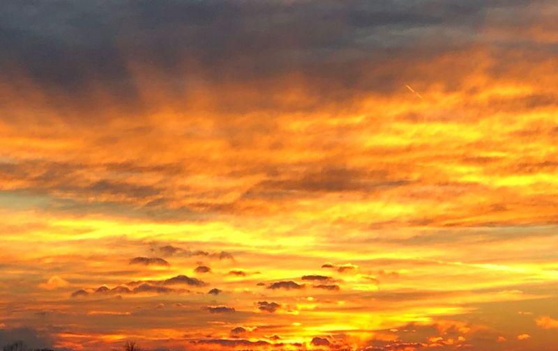 Sunset Martinsville, IN Cloud - Sky Orange Color Sunset Sky Beauty In Nature