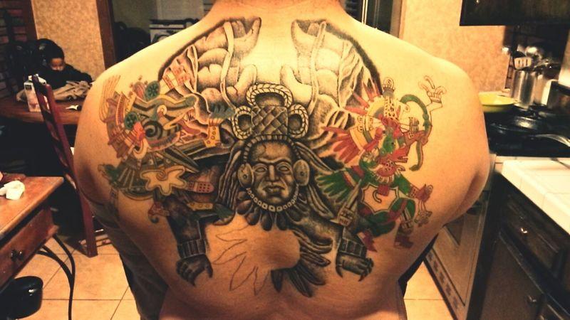 The fifth sun is rising Tattoo Art Quetzalcoatl