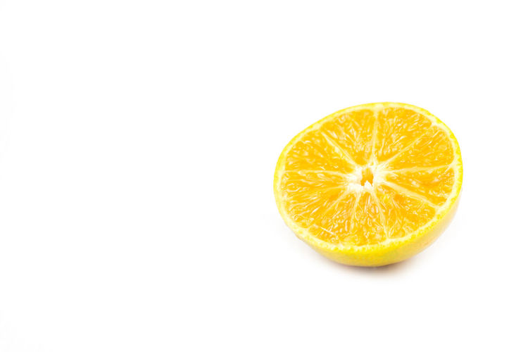 Citrus Fruit Close-up Copy Space Cross Section Cut Out Food Food And Drink Freshness Fruit Healthy Eating Indoors  No People Orange Orange - Fruit Orange Color Single Object SLICE Studio Shot Wellbeing White Background Yellow