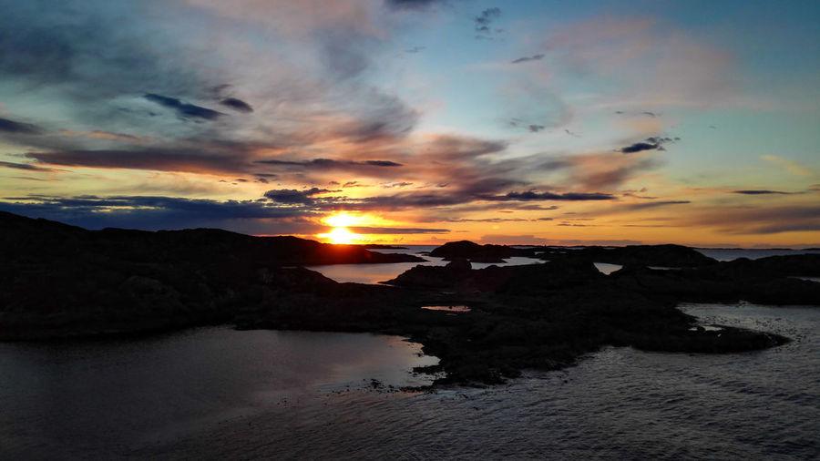 Sunset Sea And Sky Seaside Fjords Værlandet Sogn Og Fjordane Relaxing Nature Outdoors Relaxation