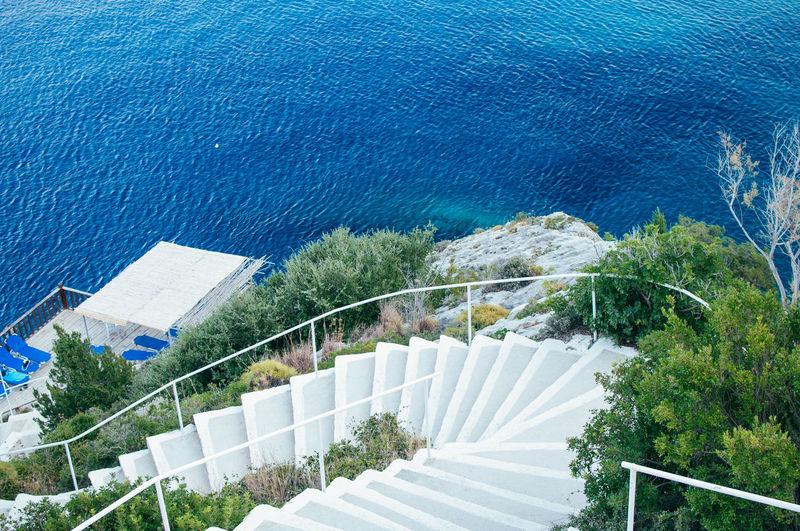 High angle view of swimming pool