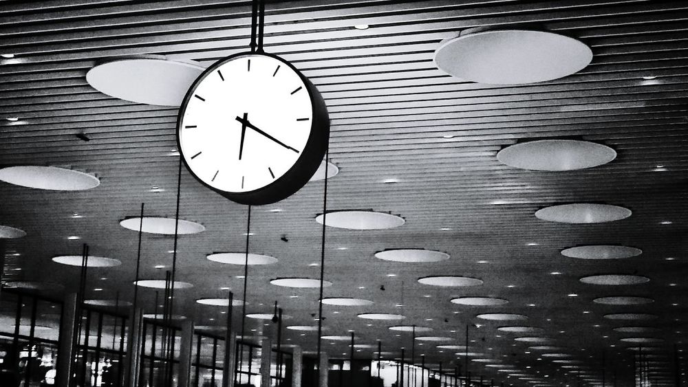 Time to say goodbye and see you soon Airports No People Airport Clock What's The Time Time Watch The Clock Seeling Eye4photography  Copenhagen