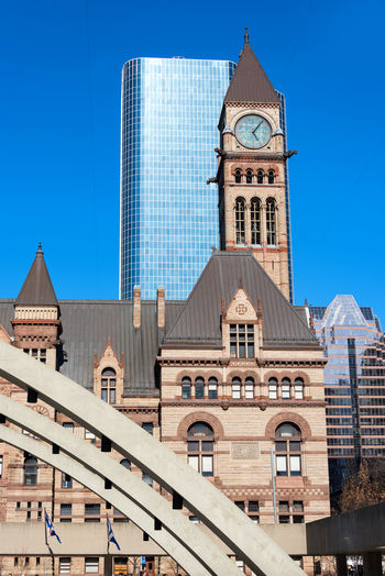 Toronto Old City Hall Architectural Details. The Landmark is part of the city heritage buildings and a tourist landmark Architectural Detail Architecture Building City Hall Day Heritage Landmark No People Old Old City Hall Revival Romanesque Romanesque Revival Toronto Urban