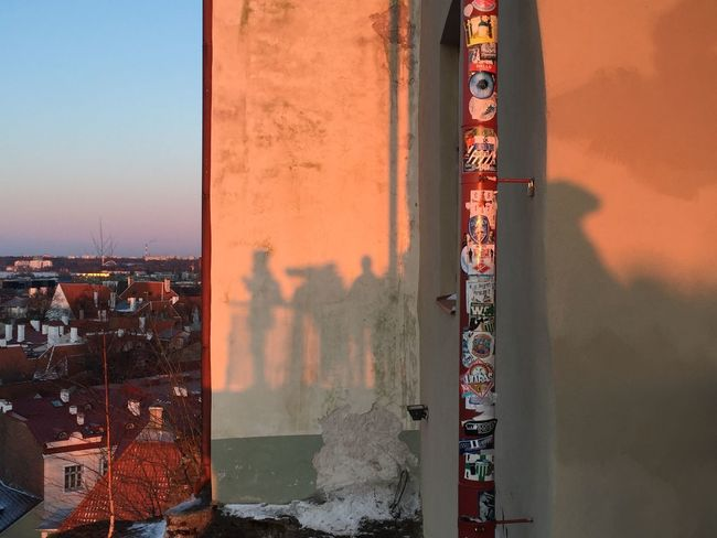 People Shadow Shadows Tourist Attraction  Sunset EyeEm Selects Built Structure Building Exterior Architecture Sky Nature Orange Color City Sunlight