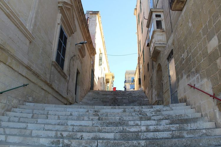 Steps And Staircases Building Exterior Day No People Historic Buildings Historic Town Medieval Structures Malta Red Post Box
