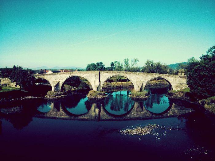 Class Trip Uk Stirling Scotland Vscocam Water Reflections Reflection Water Bridge