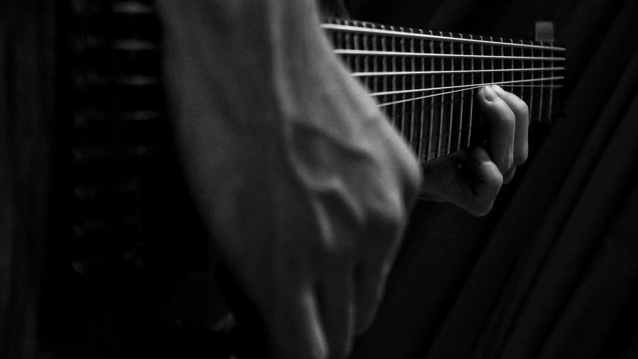 Some bends Guitar 8string Guitarplayer Lethalcreation Metal MetalBand Bw Blackandwhite EyeEm Best Shots - Black + White Lumix GX1 Monochrome Filmlook