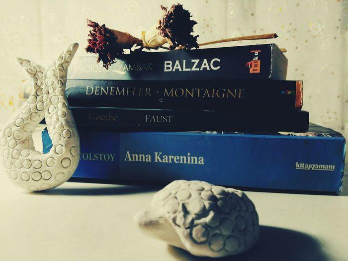 My treasures Balcaz Tolstoy Montaigne