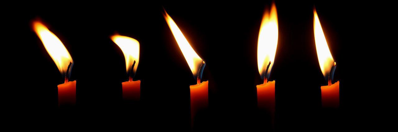 flame, fire, burning, heat - temperature, glowing, fire - natural phenomenon, candle, illuminated, close-up, indoors, dark, no people, nature, black background, studio shot, darkroom, religion, spirituality, domestic room, orange color, melting