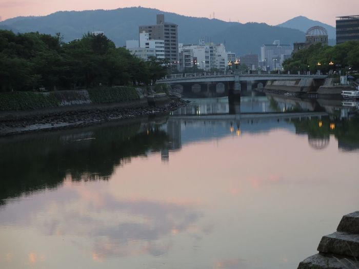 PowershotN River Water Reflections Sunset Sky Sky And Clouds Cityscape Calm