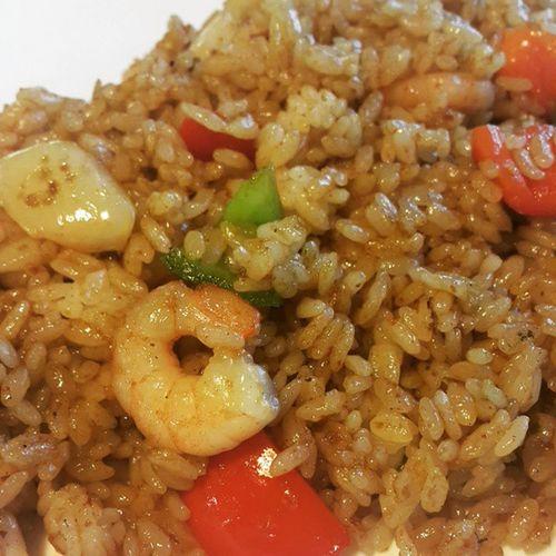 먹스타그램 새우필라프 점심밥