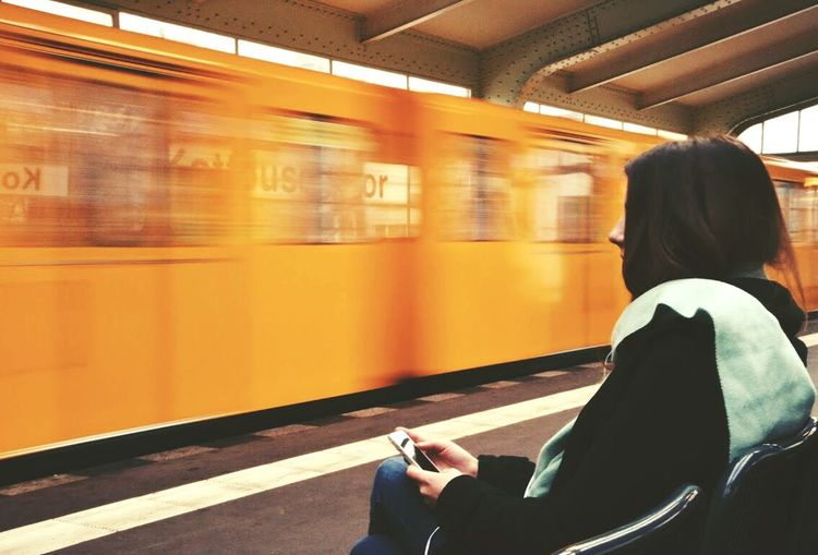 Ubahn berlin Train Traveling Girl Berlin Urban Open Edit