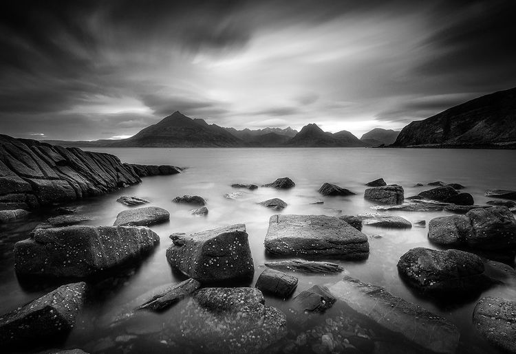 Elgol, Isle of Skye Black And White Tranquility Mountain Landscape Sky Scotland Long Exposure Landscape_photography Blackandwhite Photography Nikon Cloud - Sky No People Nature Outdoors Day