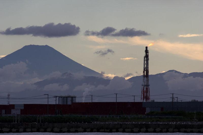 Mt.Fuji & Factory Japan Japan Photography K-1 Kawasaki Landscape Landscape_photography Mt.Fuji Pentax