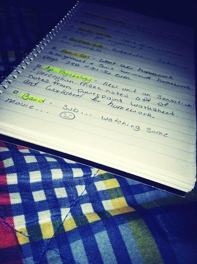 Homework. ✏