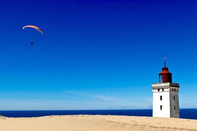 Lighthouse Lighthouse_lovers Summer ☀ Sand Rubjerg Knude Denmark Paragliding Color Palette