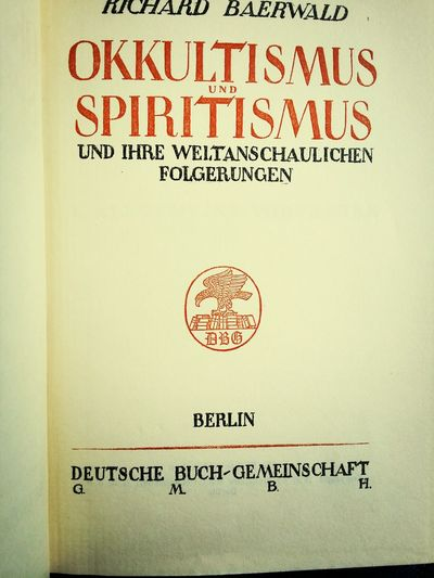 Geister Ghost book of 1926
