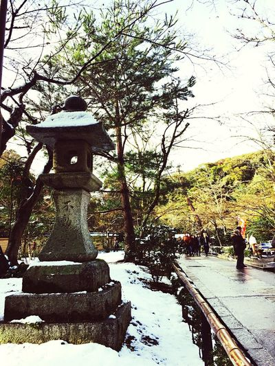 Hello World Japan Winter Snow At 鹿苑寺(金閣寺) Kinkaku-ji Temple Golden Pavilion