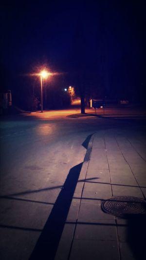 Walking Around Beautiful Excercising Night Lights