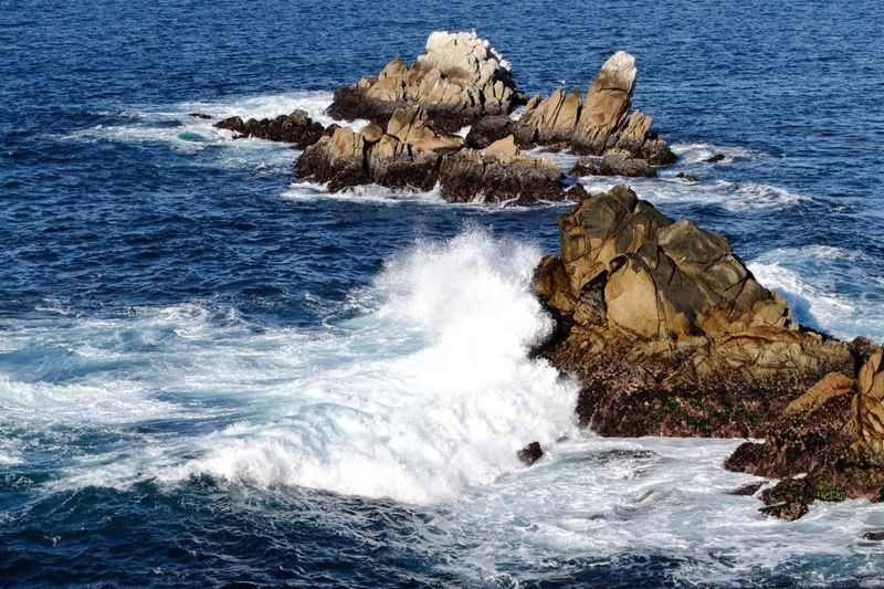 California Waves, Ocean, Nature Point Lobos State Park CA Waves And Rocks Waves Crashing Sea Water Beauty In Nature Wave Rock Motion Rock - Object Beach Nature Scenics - Nature No People Day Splashing Rock Formation Power In Nature Breaking