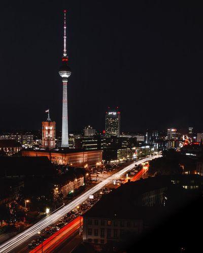 Berlin Classic Berlin Photography Alexanderplatz Deutschland Germany Fernsehturm TV Tower Berlin Night Architecture Illuminated Built Structure Building Exterior City Tall - High Travel Destinations City Life Tower Cityscape