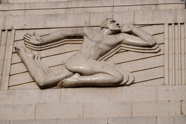 Art Decp Sculpture, Vue Cinema, Leicester Square Art Deco Facade Composition GB London Low Angle View Architectural Feature Art Deco Art Deco Architecture Art Deco Building Art Deco Design Art Deco Style Bas Relief Building Exterior Capital City Close-up Full Frame Human Representation Male Form No People Outdoor Photography Sculpture Stone Carved Temple Uk