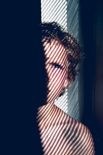 Jayden on instagram @jaydenclowe Amazing Artistic Beauty Boy Child Day Happy Friday! Indoors  Kid Light And Shadow Morning Light One Person People Portrait Serious Striped Studio Shot Stunning The Portraitist - 2017 EyeEm Awards