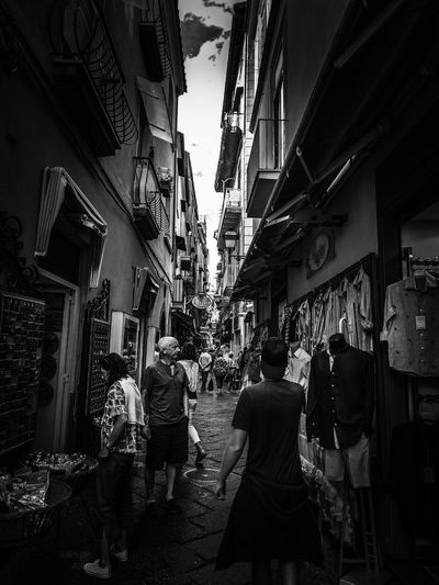 Historic Italy Streetphotography darkness and light Blackandwhite B&w Black And White Photography Photo Oldtown Black Shadows & Lights Coast Sorrento Travelphotography Sorrentocoast Traveling Travelph Photoblog City Hanging Market Store Retail  Coathanger Walking Sky Architecture Bazaar Clothing Store