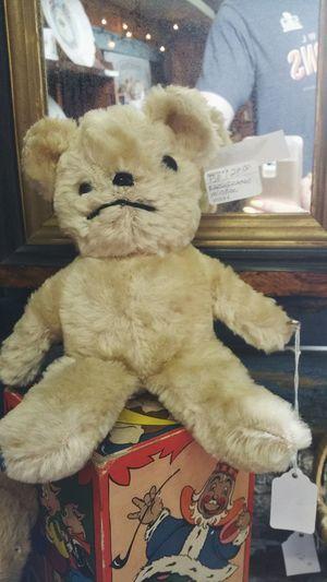 Old Sled Works Antique Creepy Dolls Teddybear Sad Face Sad Teddy Bear