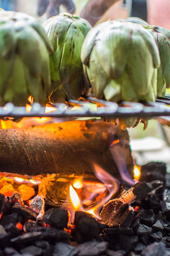 Artichokes Burning Fire Heat - Temperature Food Food And Drink Flame Fire - Natural Phenomenon Close-up Nature Freshness Healthy Eating Outdoors No People Day Focus On Foreground Vegetable Wellbeing Selective Focus Glowing Orange Color Bonfire Artichokes The Foodie - 2019 EyeEm Awards