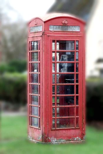 Photography Telephone Booth Old-fashioned Communication Pay Phone Red Blurred Effect My Edit