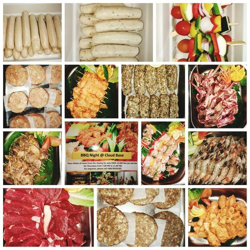 Bbq night @10 riyal net per person Coral Muscat Hotel And Apartments Cloud Base Rooftop Restaurant BBQ Time Bbqnight Choice Variation Close-up Food And Drink