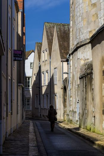 Chartres France Architecture Building Building Exterior Built Structure City Day Direction Full Length History Light And Shadow Old Buildings One Person Outdoors Rear View Residential District Street The Past The Way Forward Travel Destination The Architect - 2018 EyeEm Awards