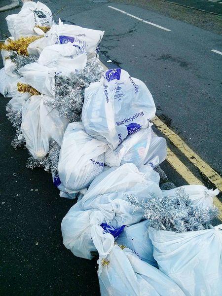 Garbage Lametta Rubbish Beauty Trash Street London Recycling