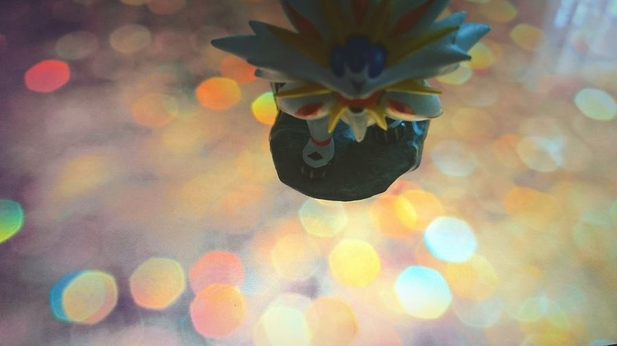 Close-up Pokemon Figure Bokeh Background