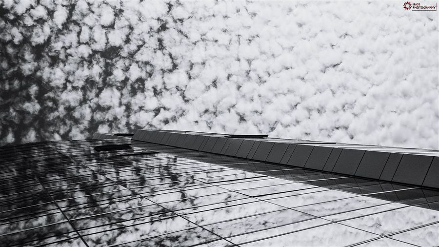 Architecture_collection Mirror Reflection Sky And Clouds Sky Lovers Cloudporn Learn & Shoot: Leading Lines Sun Light Monochrome B&w Photography EyeEm Best Shots - Black + White